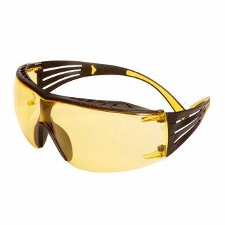 Okulary ochronne 3M SecureFit 400X Black - żółte