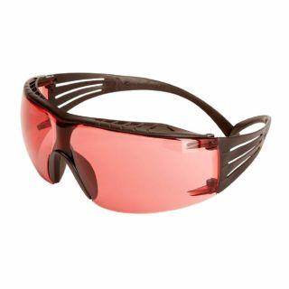 Okulary ochronne 3M SecureFit 400X Black - czerwone