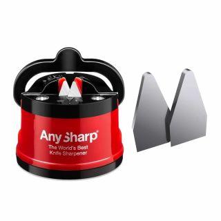 Ostrzałka do noży AnySharp Classic PL Red + płytki