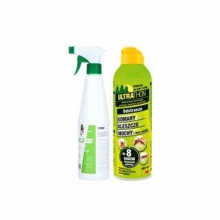 Spray na komary i kleszcze ULTRATHON + Płyn do dezynfekcji