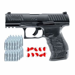 Pistolet gazowy Walther PPQ M2 .43 + kule pieprzowe