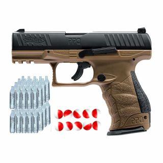 Pistolet gazowy Walther PPQ M2 FDE + kule pieprzowe
