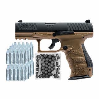 Pistolet RAM Walther PPQ M2 T4E FDE + ZESTAW CO2 50 KULE 100