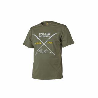 T-Shirt Helikon Polish Multitool Olive Green L/Reg