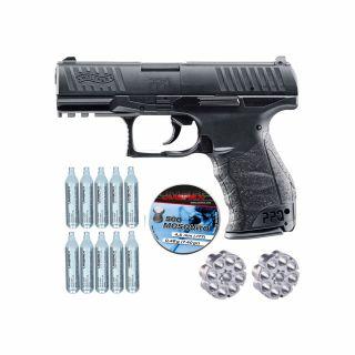 Wiatrówka Walther PPQ + ZESTAW CO2 10 szt Diabolo 500 szt.