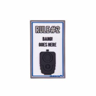 "Emblemat Helikon ""Rule#2"" - PVC - Biały"