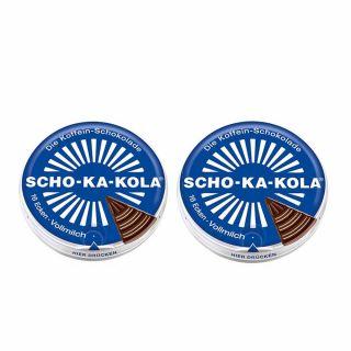 Czekolada Scho-Ka-Kola mleczna z kofeiną 2 szt ZESTAW