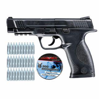 Wiatrówka Smith & Wesson M&P 45 + ZESTAW CO2 30 szt Śrut 500