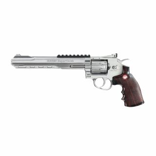 """Airsoft Rewolwer Ruger SuperHawk 8"""" 6 mm CO2 Chrom Bicolor"""