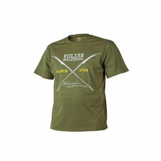 T-Shirt Helikon Polish Multitool US Green L/Reg