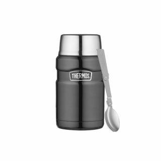 Termos obiadowy Thermos King Food Jar Red 0.71L Gun Metal