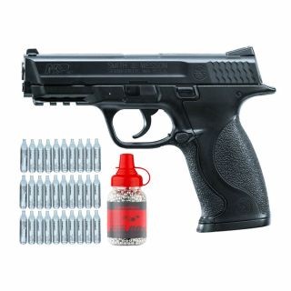 Wiatrówka Smith & Wesson M&P 40 + ZESTAW CO2 30 szt BB 1500