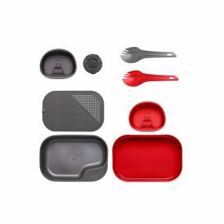 Zestaw naczyń Wildo CAMP-A-BOX Duo Complete Red / Dark Grey