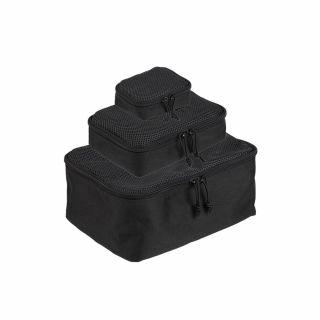 Zestaw trzech zasobników Mil-Tec Mesh Pouch Set - Black