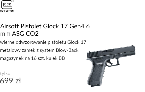 Airsoft Pistolet Glock 17 Gen4 6 mm ASG CO2