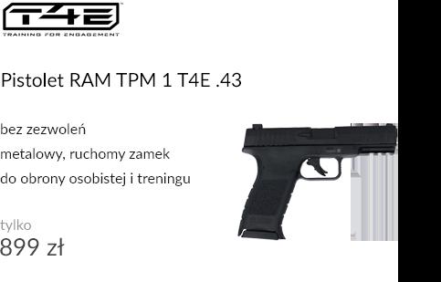 Pistolet na kule gumowe RAM TPM 1 T4E .43