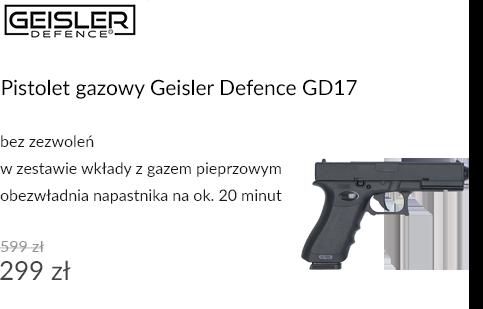Pistolet gazowy Geisler Defence GD17