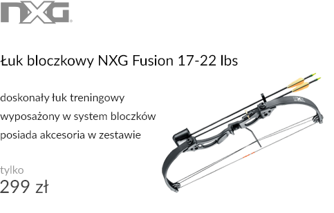 Łuk bloczkowy NXG Fusion 17-22 lbs