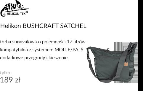Sakwa Helikon BUSHCRAFT SATCHEL Cordura Shadow Grey