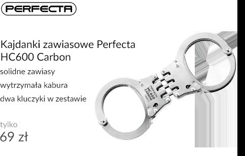 Kajdanki zawiasowe Perfecta HC600 Carbon
