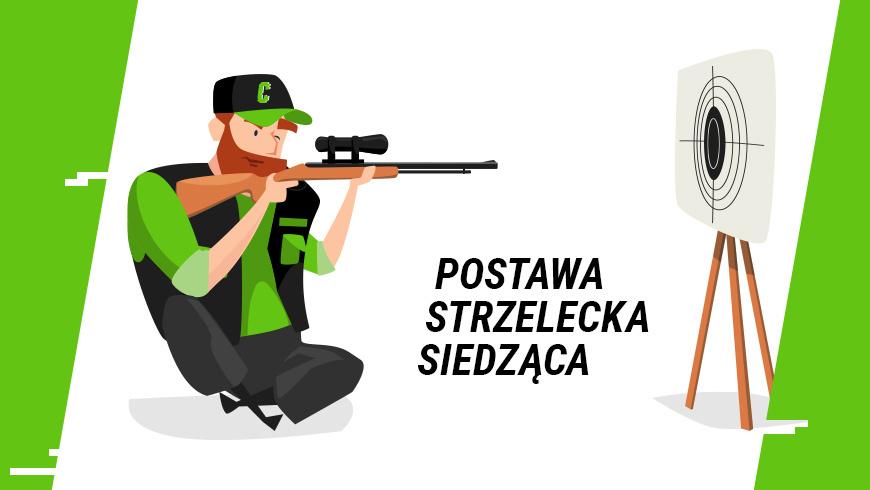 Siedząca postawa strzelecka