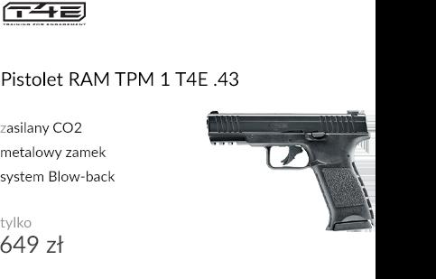 Pistolet RAM TPM 1 T4E Law Enforcement .43
