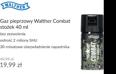 Gaz pieprzowy Walther Combat stożek 40 ml