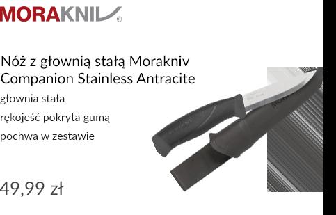 Nóż z głownią stałą Morakniv Companion Stainless Antracite
